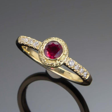 Ruby & Diamond Classical Ring