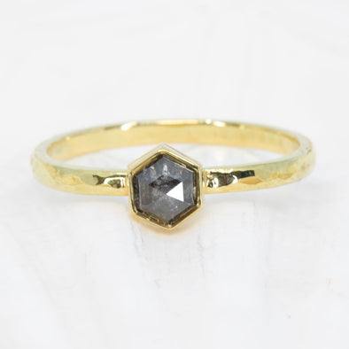0.51ct Hexagonal Diamond Ring
