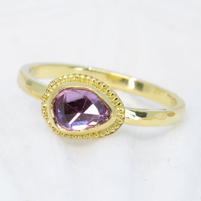 Pink Sapphire 18K Treasure Gold Ring