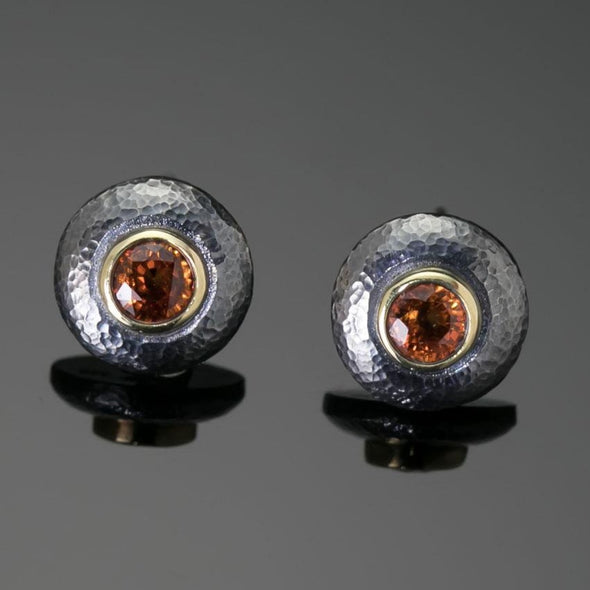 Marianas Orange Sapphire Earrings