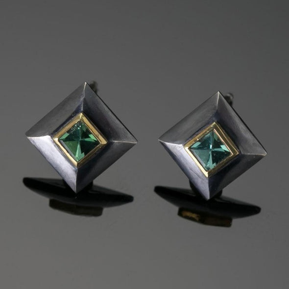 Marianas Blue-Green Tourmaline Earrings