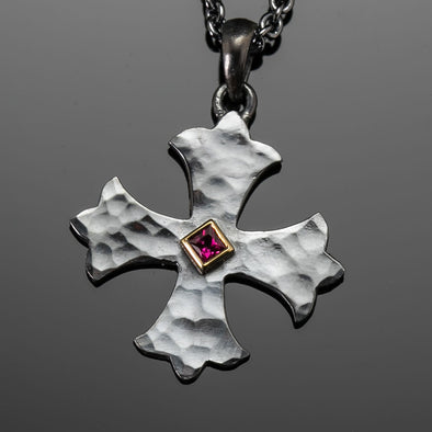 Medium Ruby Marianas Cross Pendant