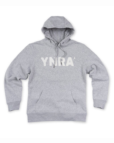 YNRA hoodie heather grey You'll never rave alone