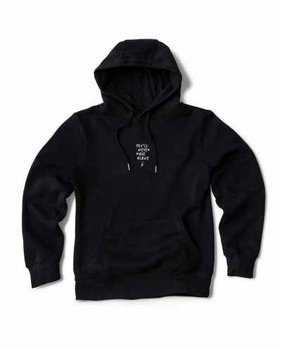 YNRA hoodie unisex black you'll never rave alone