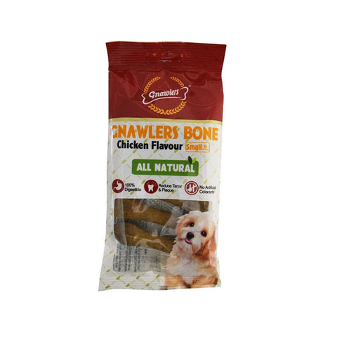 Gnawlers Bone 3inch 6 in 1 Chicken Flavour 108Gm