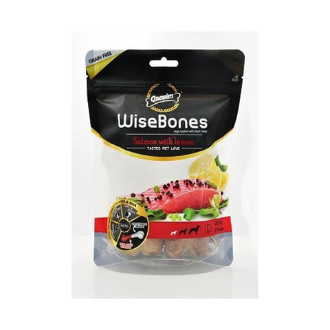 Gnawlers Wisebone Salmon With Lemon Large 200Gm
