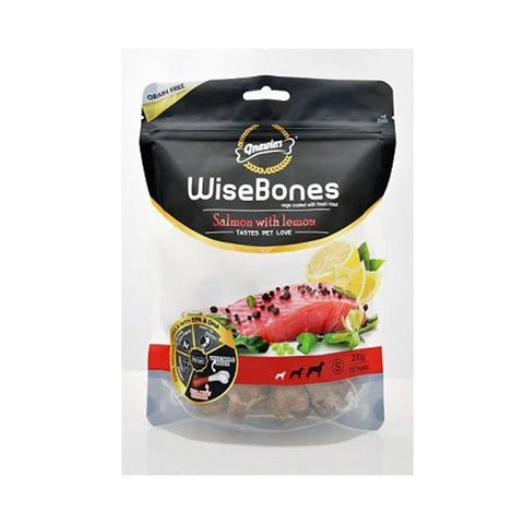 Gnawlers Wisebone Salmon With Lemon Small 200Gm