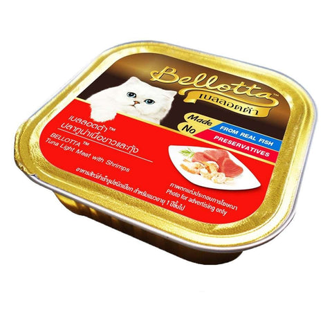 Bellota Cat Tray Tuna Light Toping Shrimps 0.08Kg