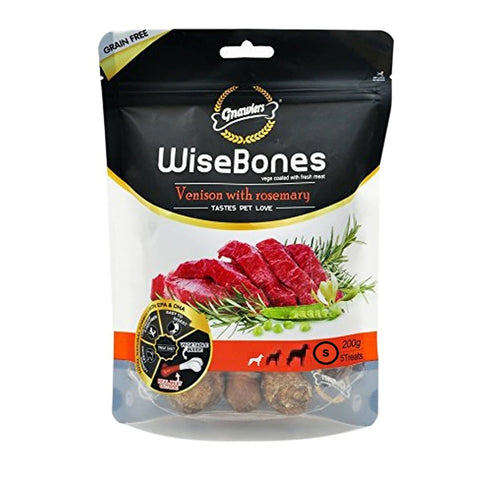 Gnawlers Wisebone Grain Free Venison With Rosemary Small 200Gm