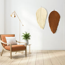Load image into Gallery viewer, Set of Giant Macrame Fiber Art Leaf Sculpture -  GIANT LEAF