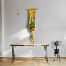 Load image into Gallery viewer, Macrame Wall Hanging Planter- MUSTARD LAVANYA