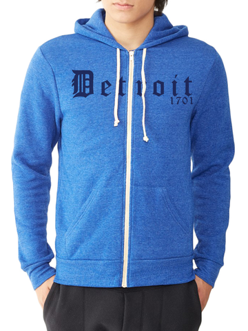 DETROIT 1701 ECO-FLEECE ZIP HOODIE