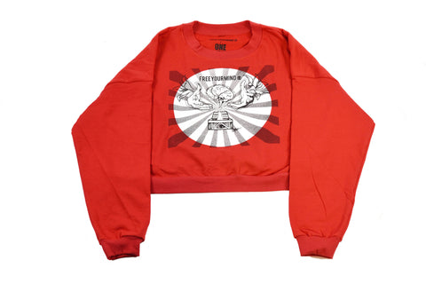 Free Your Mind Cropped Sweatshirt
