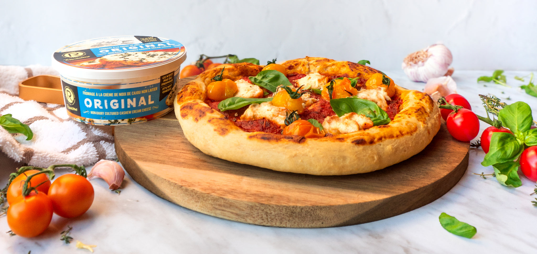 Pizza margherita avec fromage Rawesome