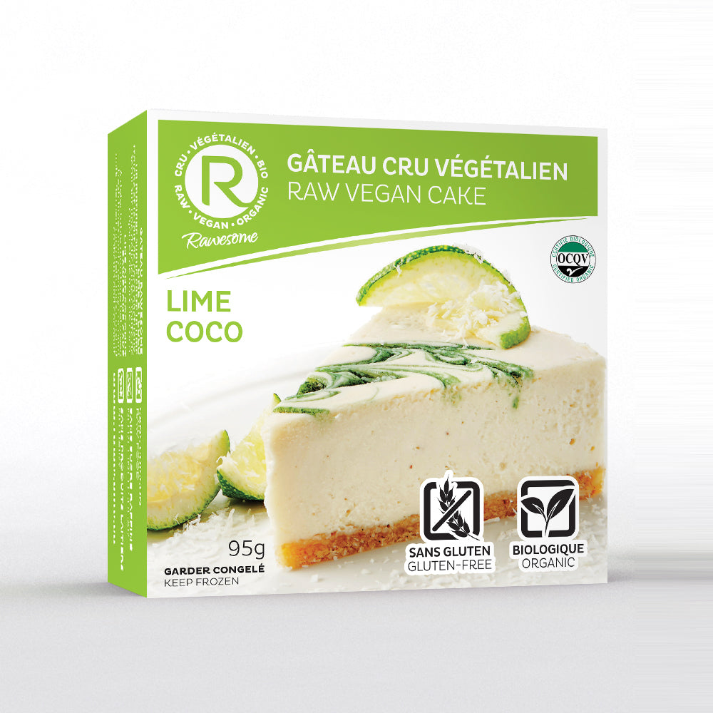 Lime coco raw vegan slice