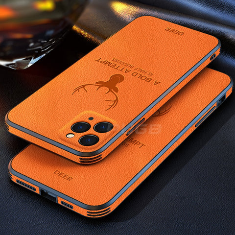Leather Texture Shockproof Case for IPhone
