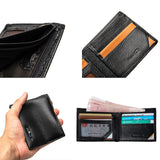 Anti-Lost Smart Leather Mens Wallet