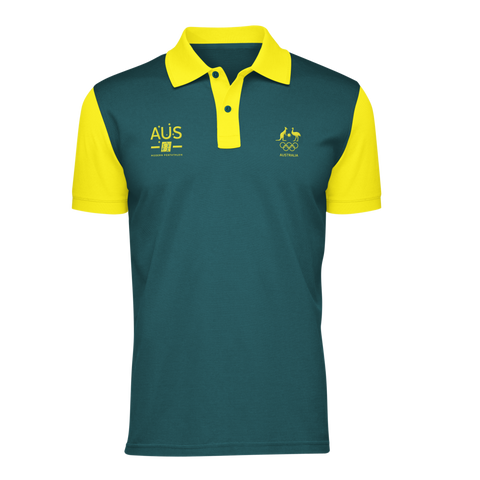 AOC Modern Pentathlon Adults Green Supporter Polo