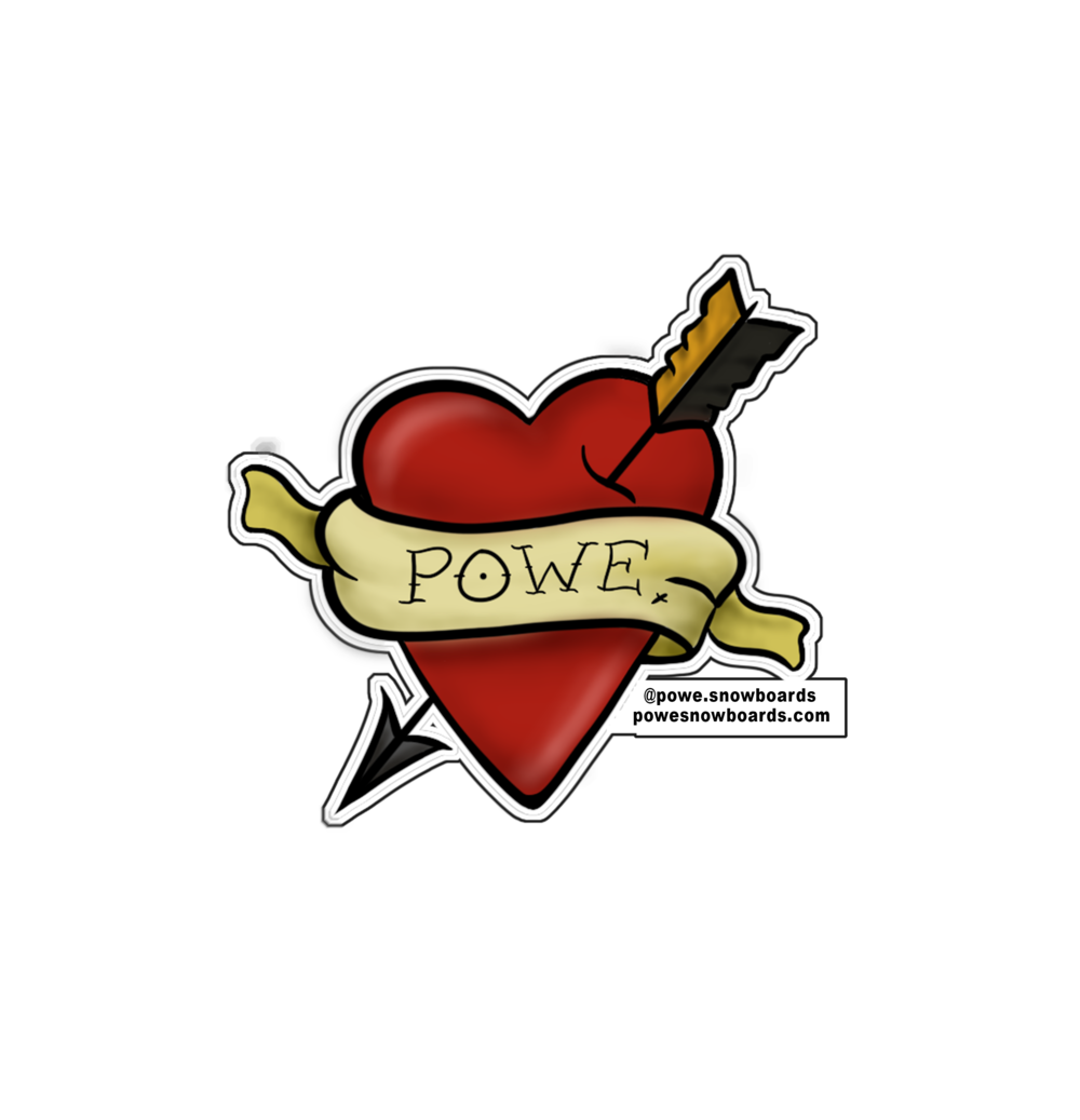 Powe. Heart Sticker