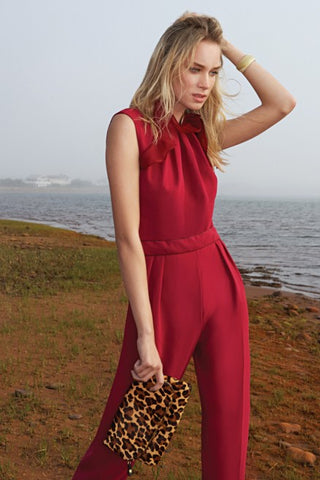 Model holding Chantilly Clutch