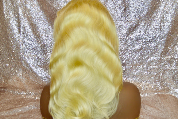 360 Lace Premium Virgin Blonde Body Wave Wig Unit | The Regal Crown
