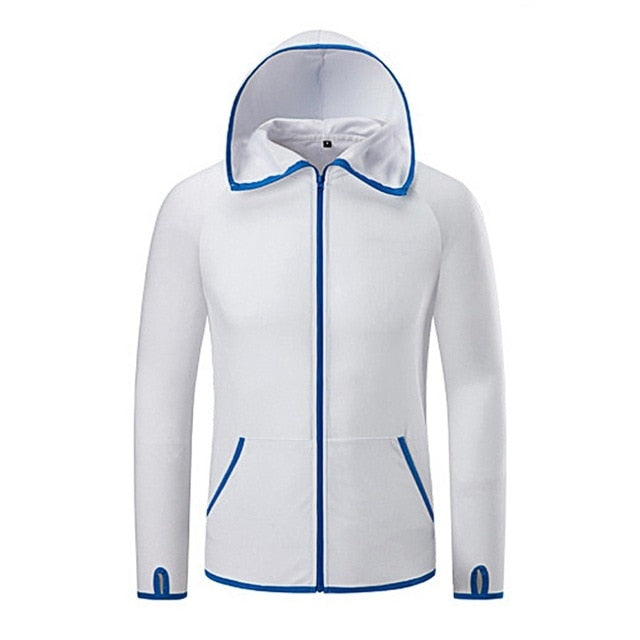 Hydrophobic Ice Silk  Outdoor Hooded Jackets  Waterproof Quick-Drying