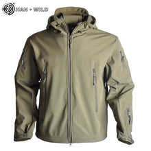 Load image into Gallery viewer, Mens Shark Skin Soft Shell Windbreaker Fleece Field Jacket
