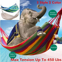 Load image into Gallery viewer, Outdoor Double Canvas Portable Hammock