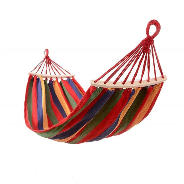 Outdoor Double Canvas Portable Hammock