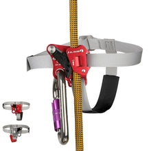 Load image into Gallery viewer, SRT Rock Climbing Foot Ascender Riser With Pedal Belt Grasp Rope Gear