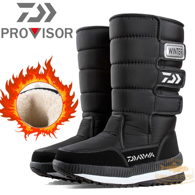 DAIWA Fishing Shoes Plus Velvet Warm Non-slip Waterproof High Top Winter Boots