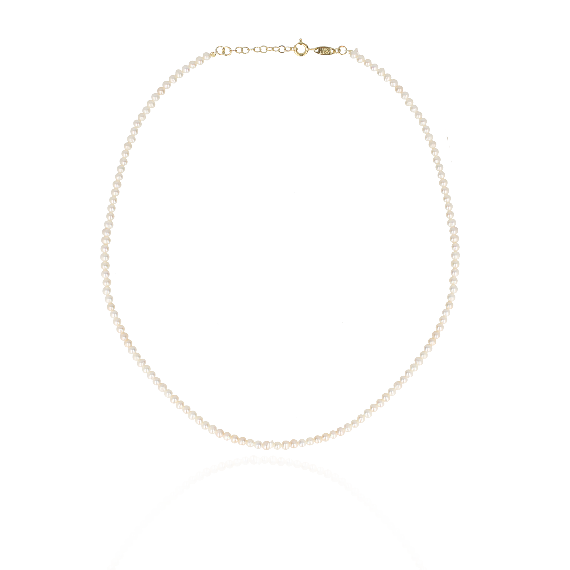 Lott. Gioielli - Necklace little pearls round gold