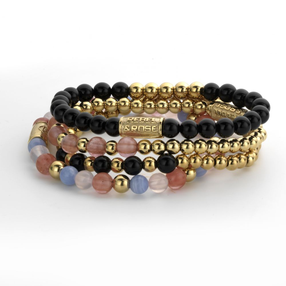 Yellow Gold meets Black Madonna 6mm