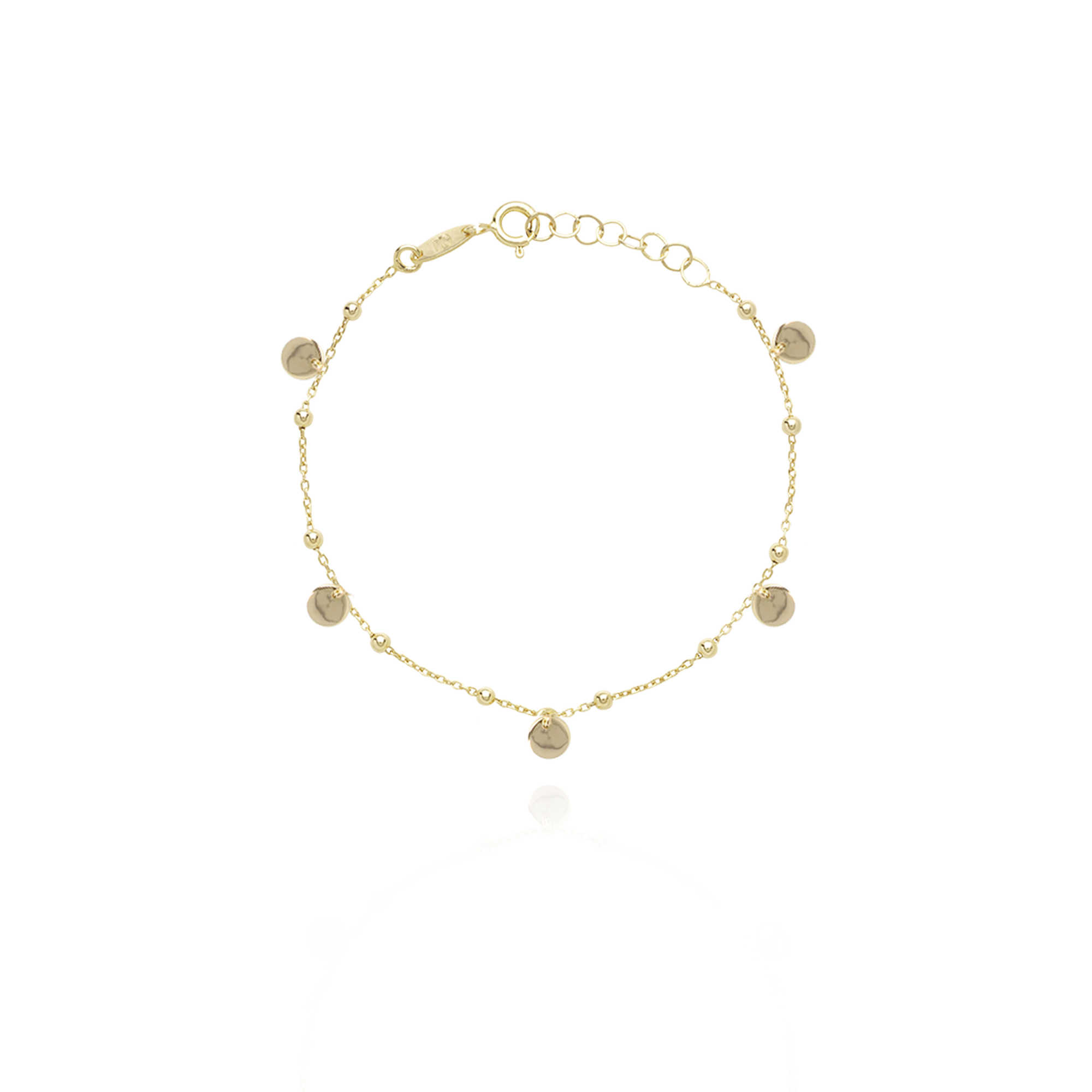 Lott. Gioielli - Rosary Ronde Bedels Armband gold