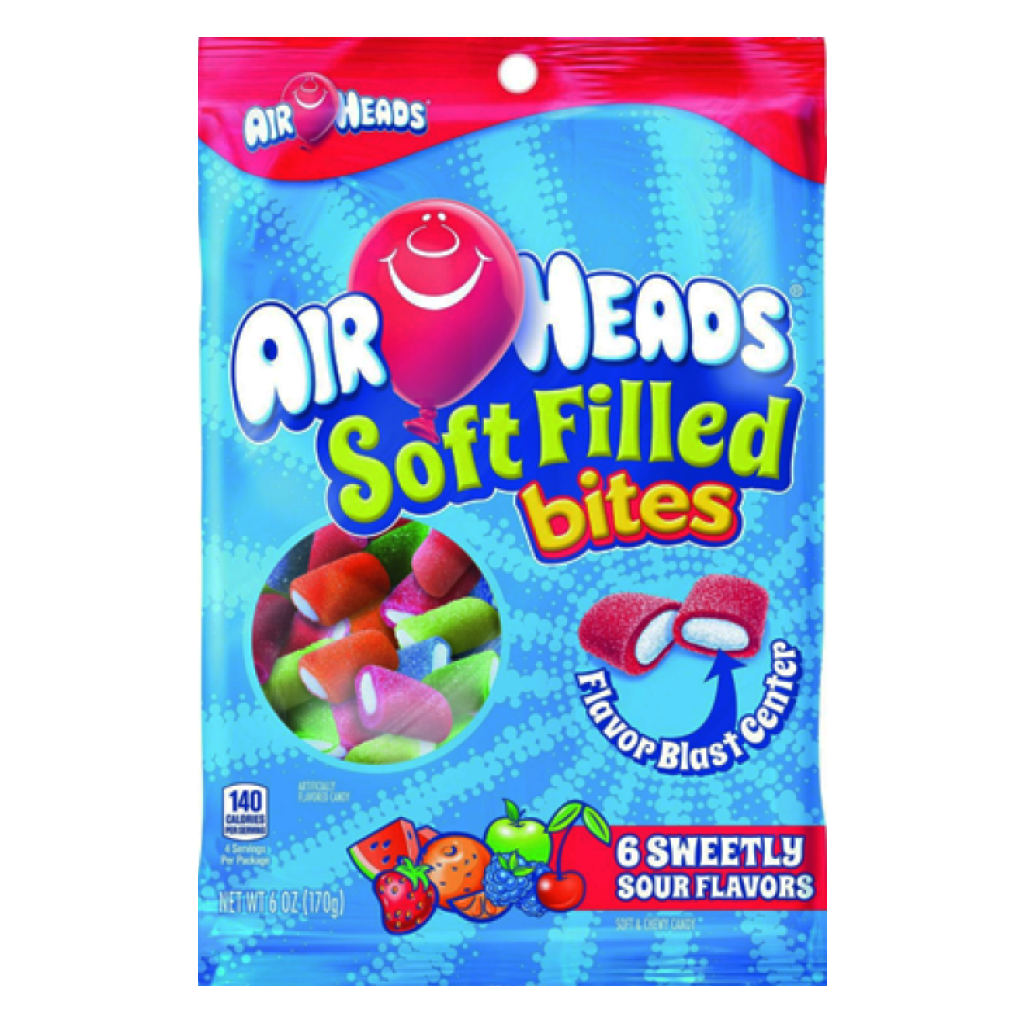 Airheads Soft Filled Bites 170g