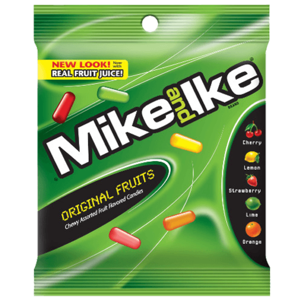 Mike & Ike Original Fruits Peg Bag 141g