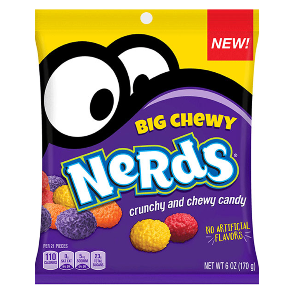 Nerds Big Chewy Candy Bag 170g