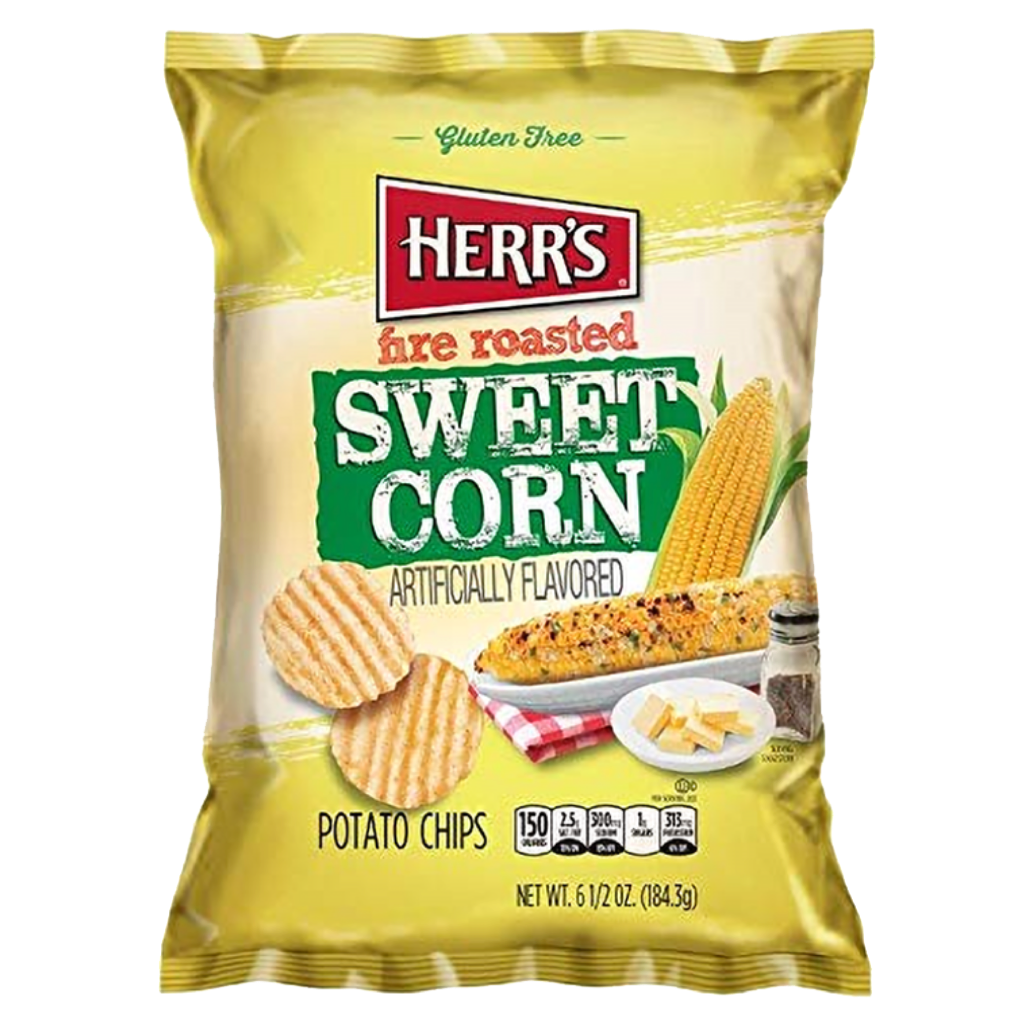 Herr's Fire Roasted Sweetcorn Crisps 64g