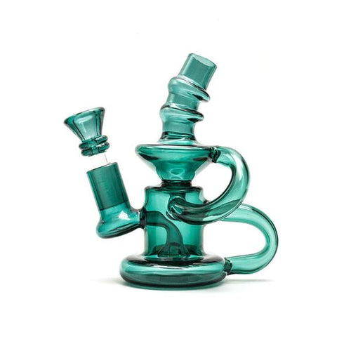 Green Clear Double Turbine Bong