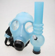 Load image into Gallery viewer, Blue Glow in the Dark Gas Mask