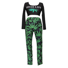 Load image into Gallery viewer, High Street Life Leaf Design Tracksuits