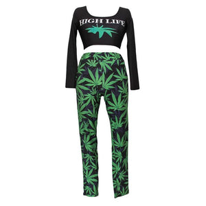 High Street Life Leaf Design Tracksuits