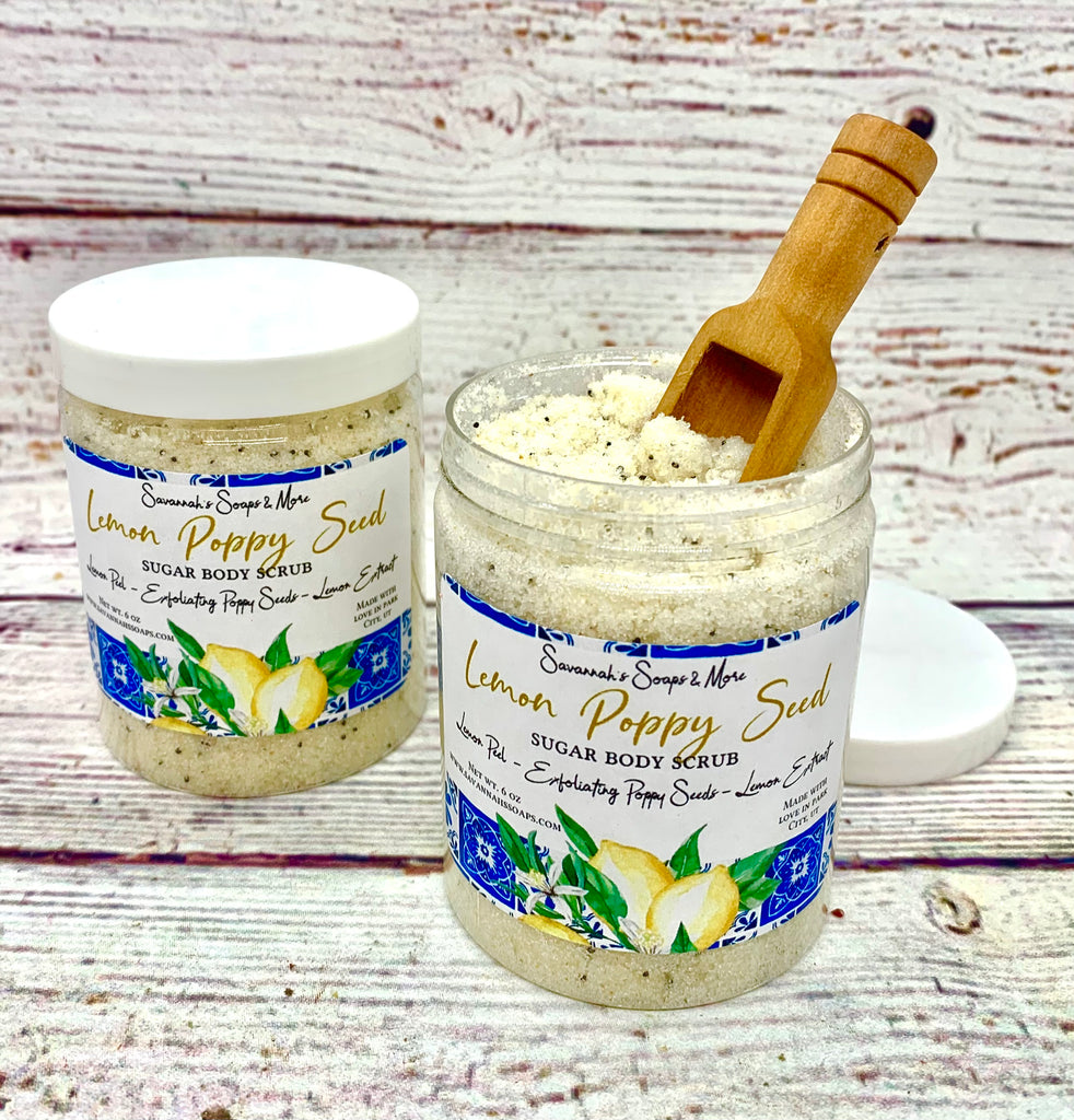 Lemon Poppy Seed Sugar Body Scrub