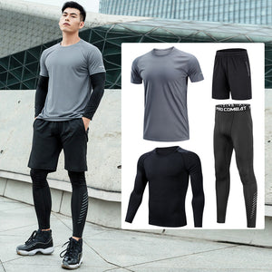 Men's Fitness Tracksuit 4 Piece Suit