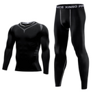 Men's Compression fitness Tracksuit Long sleeve two-piece suit