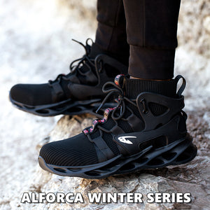 Alforca Winter Series High-top Series Warm Protection Anti-puncture Safety Shoes