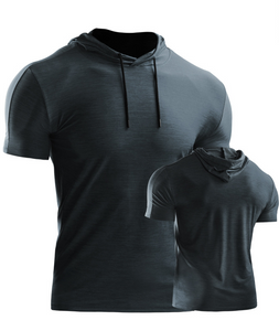 Men's Dry Fit Performance Athletic Shirt with Hoods