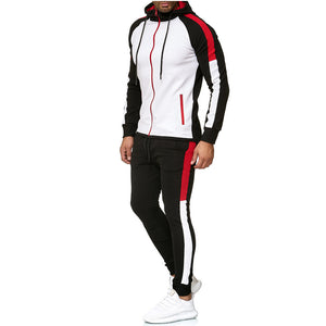 Men's Color matching Fashion sports suit