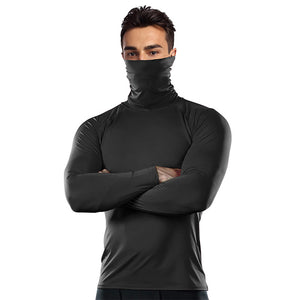 Mask Turtleneck Compression Shirts