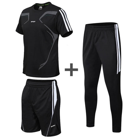 Quick Dry Fitness Sports Set Short Sleeve